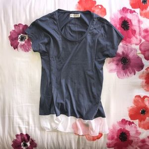 Abercrombie & Fitch Soft Knit and Chiffon Tee